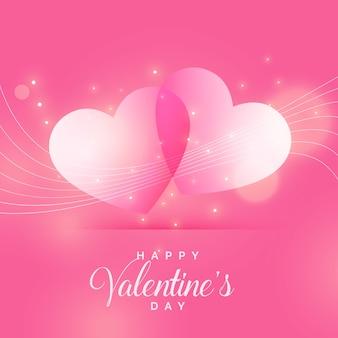 バレンタインデーのための美しい光沢のある愛の背景