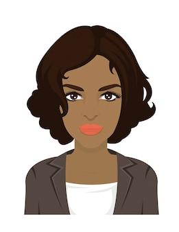 Красивая женщина коротких волос в векторе