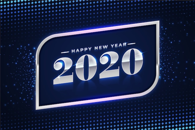 Beautiful silver new year 2020 background