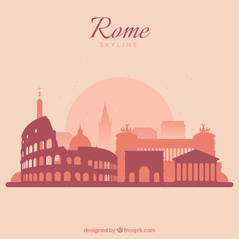 Beautiful skyline of rome