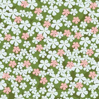 美しい小さなビンテージ花のシームレスなパターンデザイン