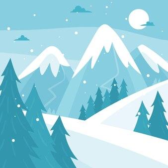 Beautiful snowy winter landscape
