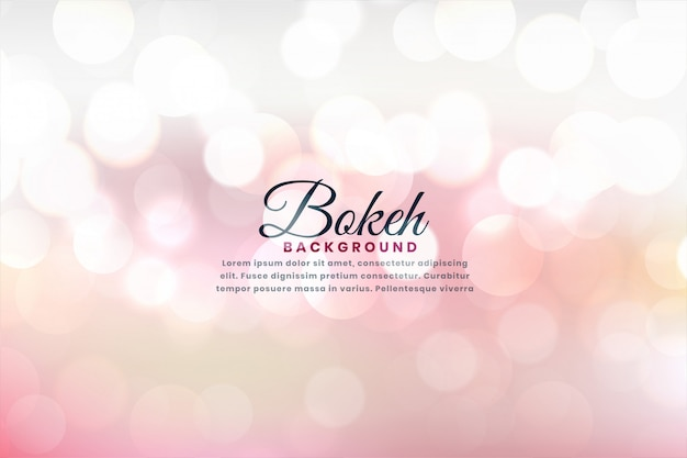 Beautiful soft bokeh lights background effect
