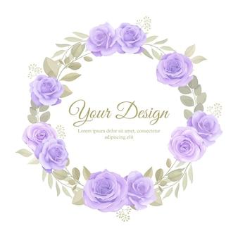 초대 카드 서식 파일에 대 한 아름 다운 부드러운 색상 꽃 장식