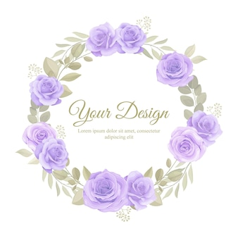 ornamento floreale di bel colore morbido per modello di carta di invito