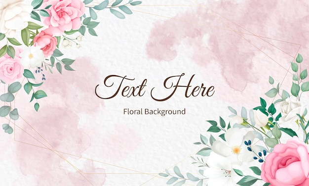 Beautiful soft floral and leaves   design