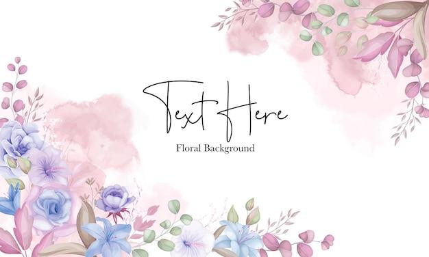 Bellissimo sfondo di fiori rosa e blu tenui