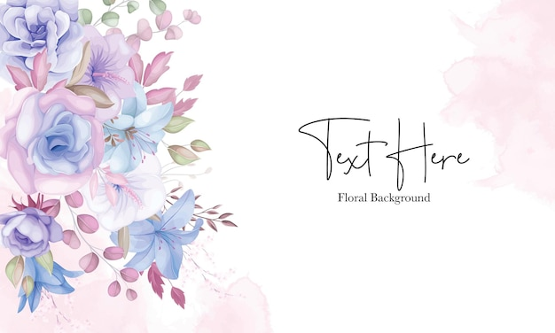 Beautiful soft pink and blue flower background