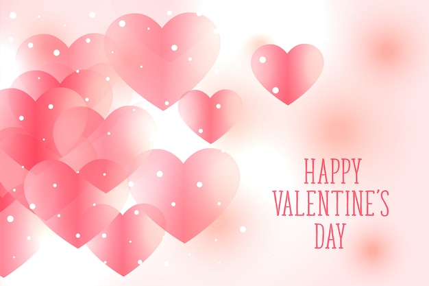 Beautiful soft pink hearts valentines day background