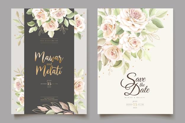 Набор красивых мягких роз приглашения