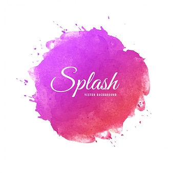 Beautiful soft splash colorful watercolor