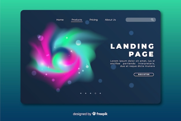 Beautiful space delusion landing page