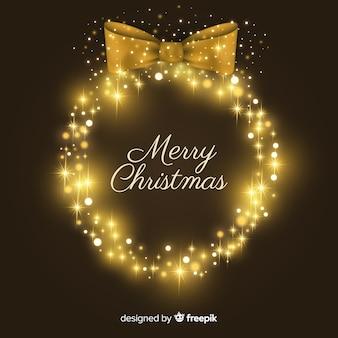 Beautiful sparkling christmas background