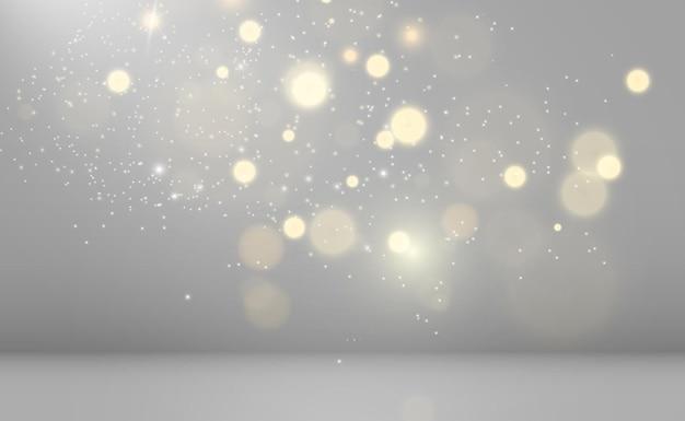 美しい火花が特別な光で輝きます透明な背景にベクトルの輝き