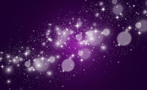 特別な光で美しい火花が輝きます。