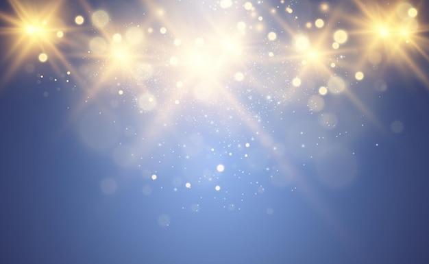 Красивые искры сияют особым светом