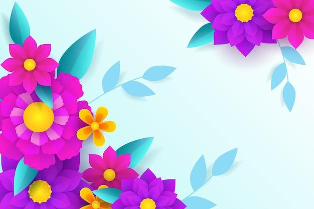 Bellissimo sfondo di primavera in stile carta