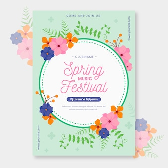 Beautiful spring poster template