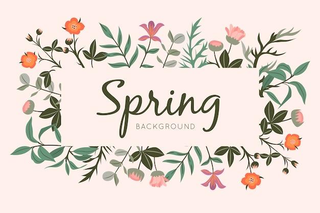 Carta da parati bella primavera con fiori