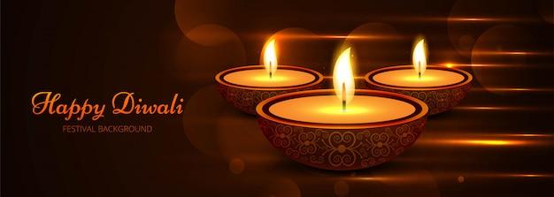 Beautiful stylish happy diwali festival template