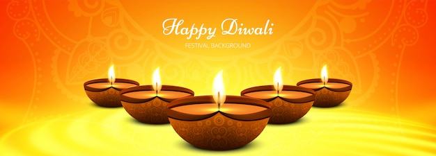 Beautiful stylish happy diwali festival template