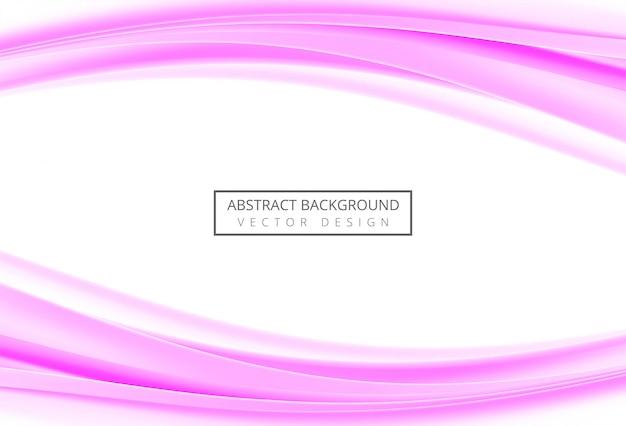 Beautiful stylish pink wave background
