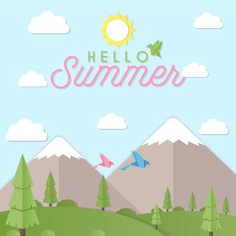 美しい夏の背景