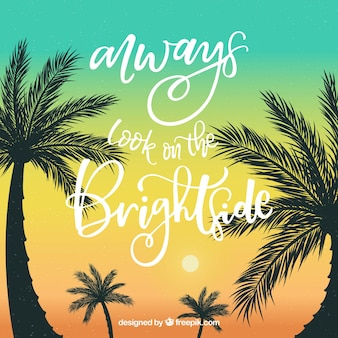 Beautiful summer quote background