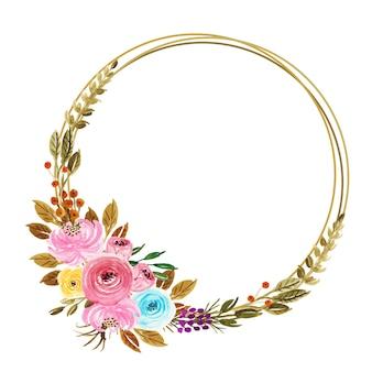 Beautiful summer watercolor flower arrangements