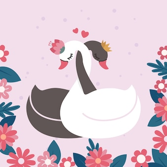 Прекрасная принцесса лебедя