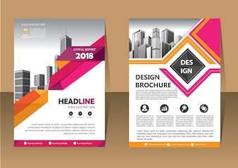 Beautiful template brochure layout annual report flyer