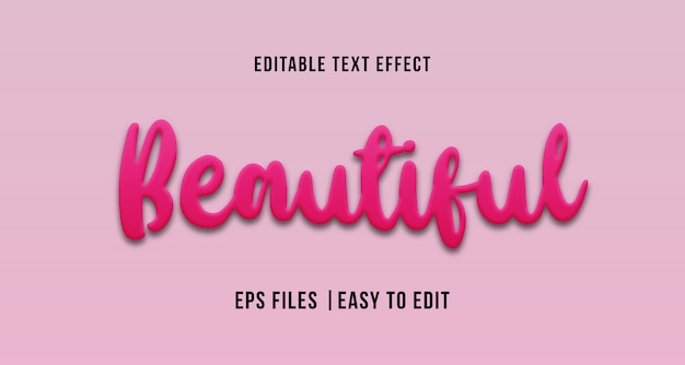 Beautiful text effect, editable text