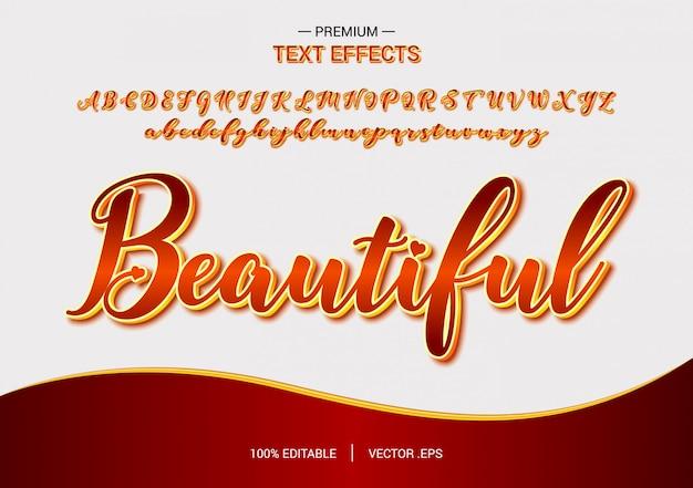 Beautiful text effect