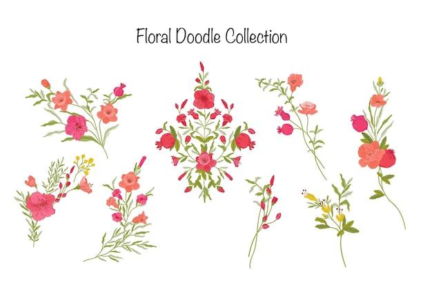 美しい伝統的な花のコレクション