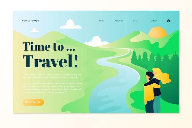 Beautiful travel landing page