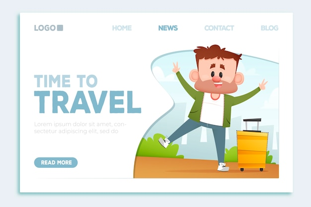 Beautiful travel landing page