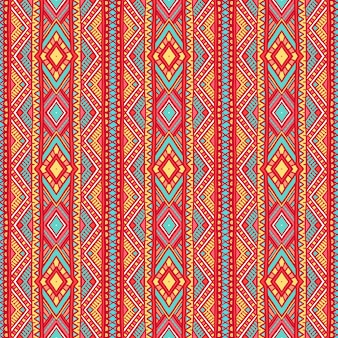 Beautiful tribal vertical striped pattern with dots and triangles