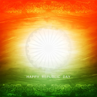 Beautiful tricolor indian flag theme background