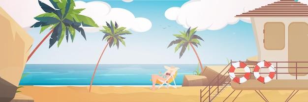 ヤシの木と美しい熱帯のビーチの風景夏の海辺