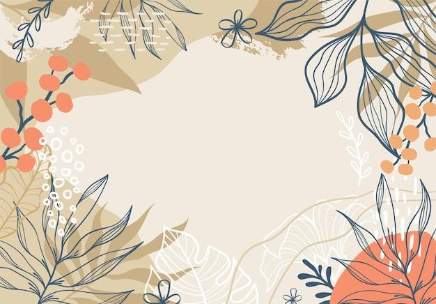 아름 다운 열 대 꽃 배경
