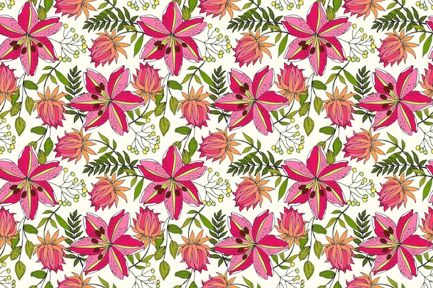 Beautiful tropical floral pattern