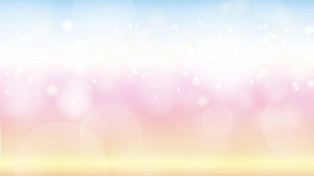 Beautiful twilight gradient background with bokeh