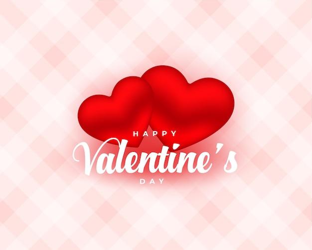 バレンタインデーのための美しい2つの愛の心