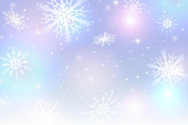 Bella carta da parati invernale sfocata