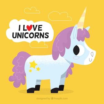 Beautiful unicorn background with a message