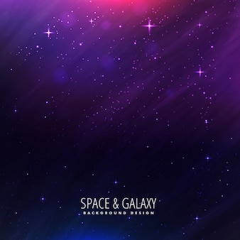 Beautiful universe background in purple color