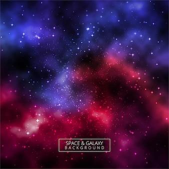 Beautiful universe galaxy colorful background