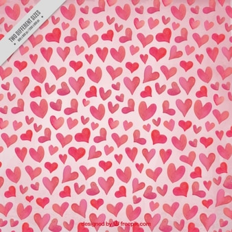 Beautiful valentine background of hearts in pink tones