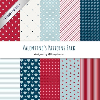 Beautiful valentine day patterns