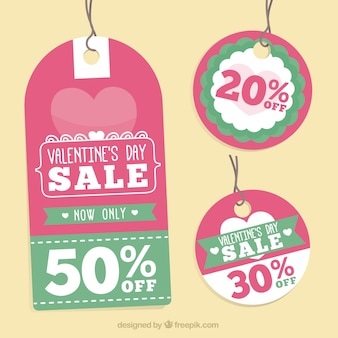 Beautiful valentine day sales tags